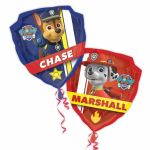 "27"" Paw Patrol Chase and Marshall SuperShape Foil Balloon"